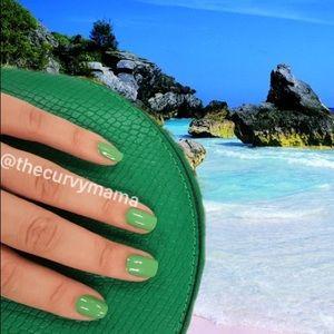 2/$20 palmetto green solid incoco nails retired